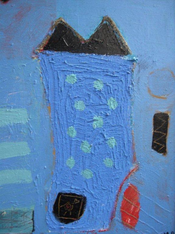 blauw huis, gemengde techniek op paneel 50 x 40.jpg